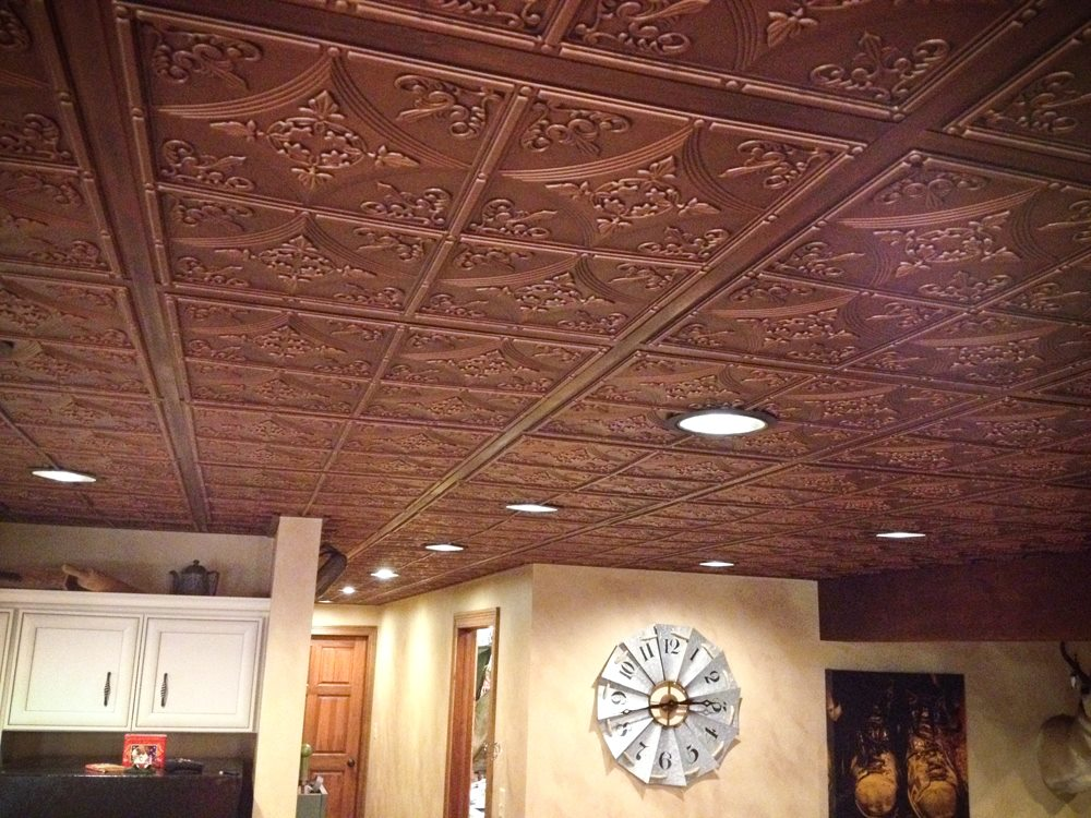 Antiqued Faux Metal Ceiling Tiles Isc Supply