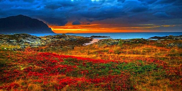 Sunset On The Sea 001